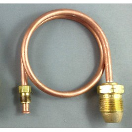 """780mm Copper Pigtail POL Male to 1/4""""Inverted Flare"""