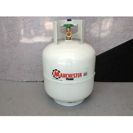 BBQ Bottle 9KG LPG Manchester Powder Coated White