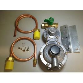 Caravan-Motorhome-RV LPG 2 Stage Regulator with 2 x 500mm POL Copper Pipe & Tap