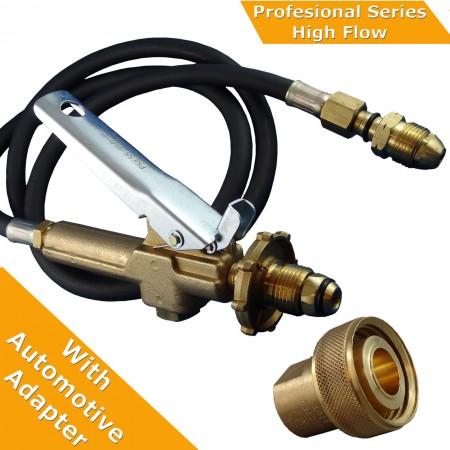 """LPG Filler Gun & Hose Automotive.  Comes with Acme 1 3/4"""" Adpter"""