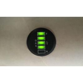 Gastec Round 5 LED Indash Gauge Unit to Suit  LPG & CNG Systems