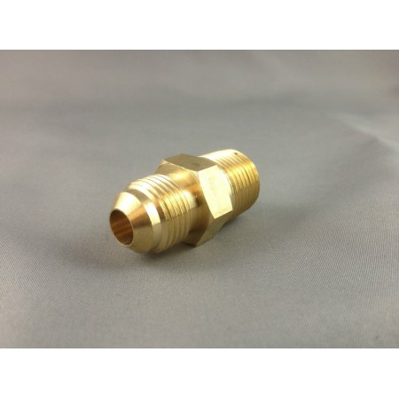 Brass Nipple 3/8 SAE Male to 3/8 BSP Male