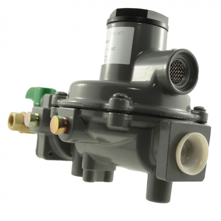 LPGas Regulator, 550 MJh Fisher Manual Change Over 2 x Pipes