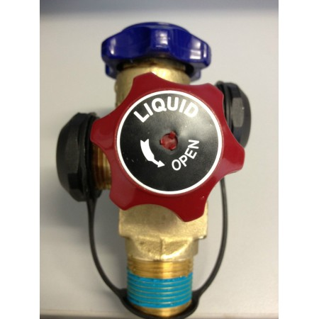 Air-Conditioning Cylinder Valve Dual Tap Dual Outlet 2.6 Mpa