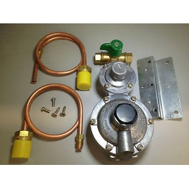 Caravan-Motorhome-RV LPG 2 Stage Regulator with 2 x 500mm POL Copper Pipe & Tap
