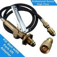 LPG Filler Gun & Hose Fork Lift.  Includes Acme 1 1/4 Forklift cylinder adapter
