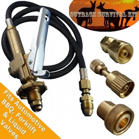 LPG Filler Gun & Hose, Outback Survival decanting Kit