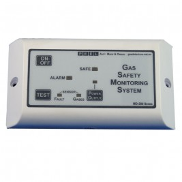 Gas detector, LPG / Propane detector, with gas shut off - Single sensor, Marine, Boat, Automotive, RV